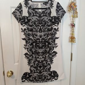 NWOT Sequin Hearts Lace Detail Holiday Dress Sz 7